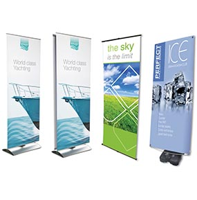 Roll-up in PVC Banner d aterra per esterno ed interno